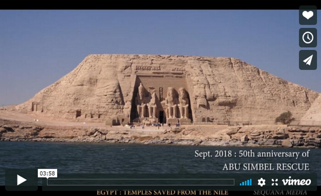 Sauvetage des temples Nubiens d'Egypte