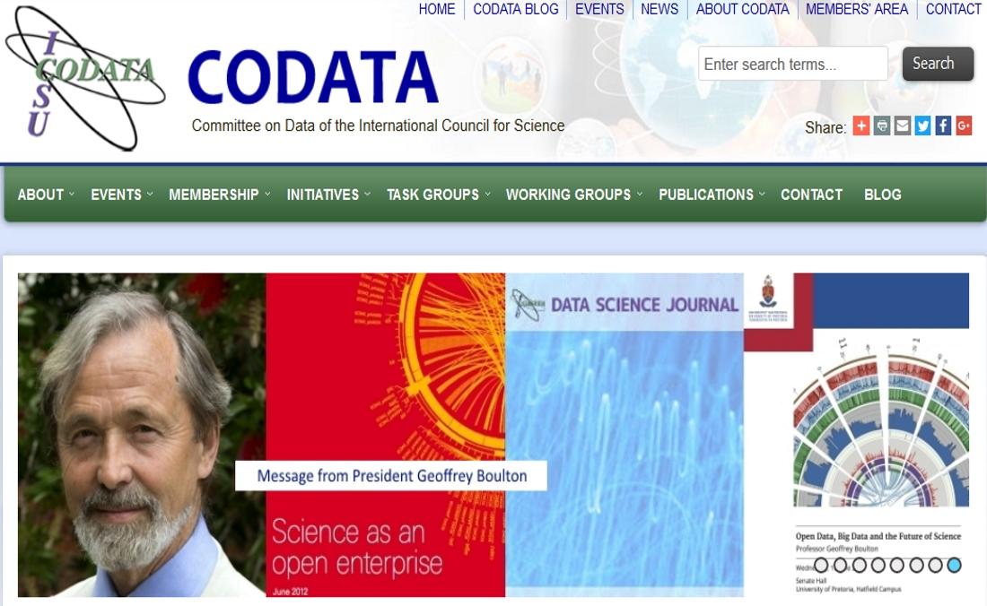 Site web de l'association scientifique CODATA