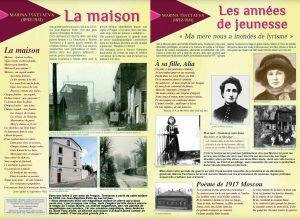 Brochure Marina Tsvetaeva à Vanves - sa maison
